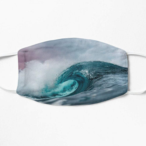 Cool surfing wave face mask