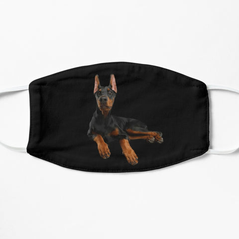 Doberman dog breed face mask cover in black