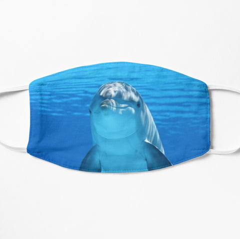 Dolphin face mask in blue