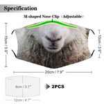 Features of funny sheep face mask cover