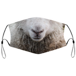 Funny sheep cloth face mask cover with filter pocket