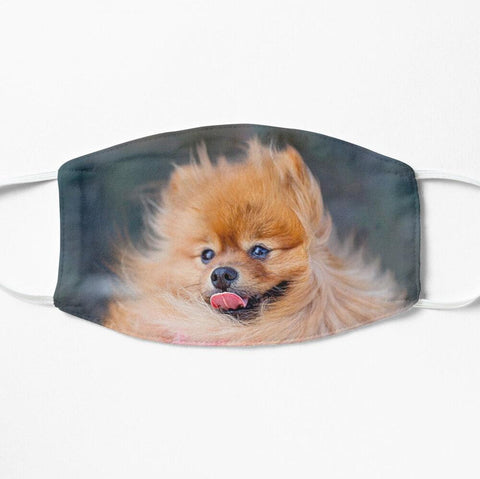 Happy pomeranian dog face mask cute