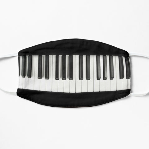 Piano keys face mask for a cool musician