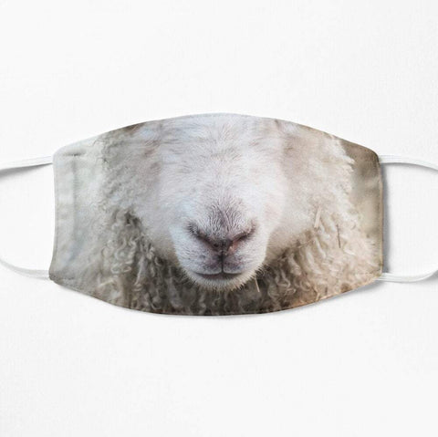 Funny sheep face mask
