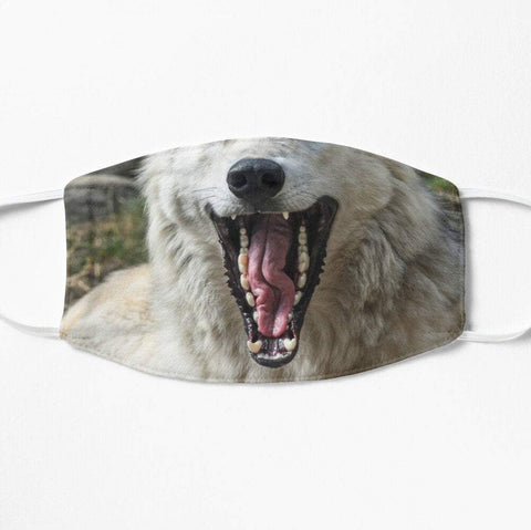 Wolf teeth face mask