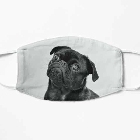 Adorable Black Pug Face Mask