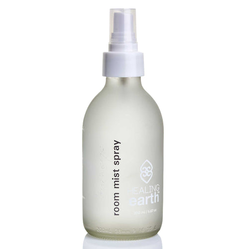 healing journeys room mist spray 200ml in a white frosted glass bottle