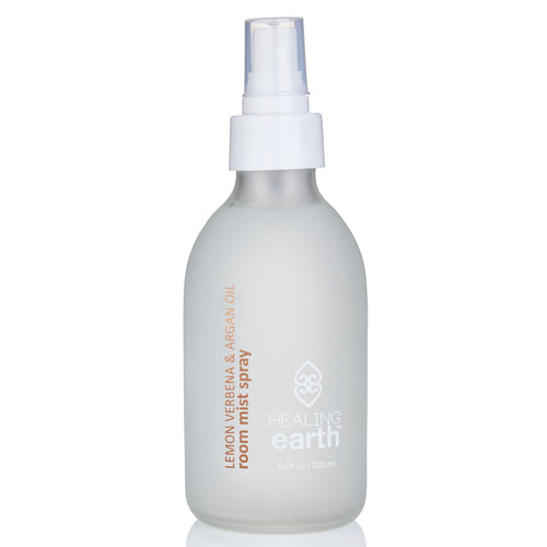lemon verbena room mist spray 200ml white frosted glass