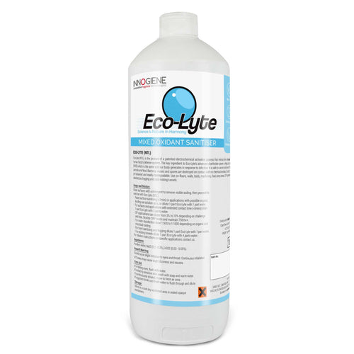 ECO-LYTE NTL in a 1 litre bottle. Non-toxic, chemical free, biodegradable disinfectant. Buy at www.sramenities.co.za.