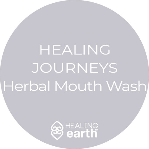healing journeys herbal mouth wash 50ml white frosted glass
