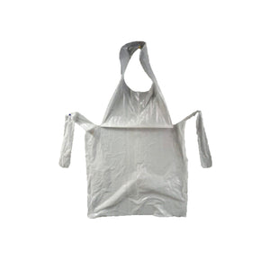 Disposable aprons, 25 microns available at SR Amenities Hotel and Spa Supplies.
