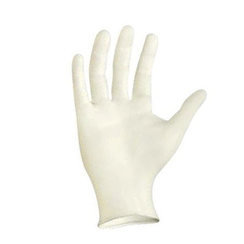 Disposable, powder free latex gloves sold by SR Amenities