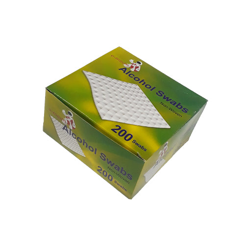 Box of 200 Alcohol Swabs with 70 percent alcohol available at SR Amenities Hotel and Spa Supplies