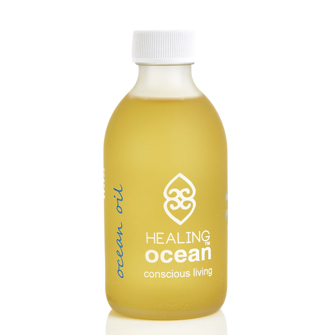 healing ocean oil 200ml white frosted glass