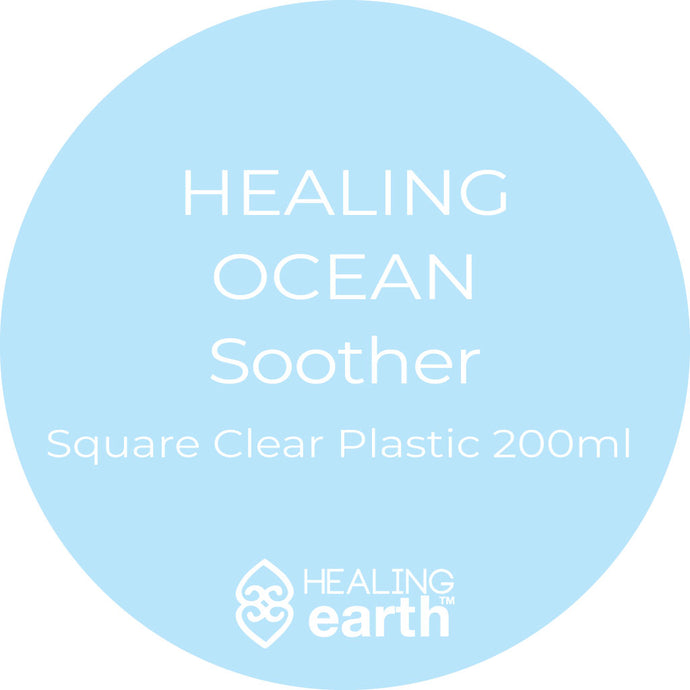 healing ocean hand and body soothing hand and body lotion 200ml in a clear plastic square bottle