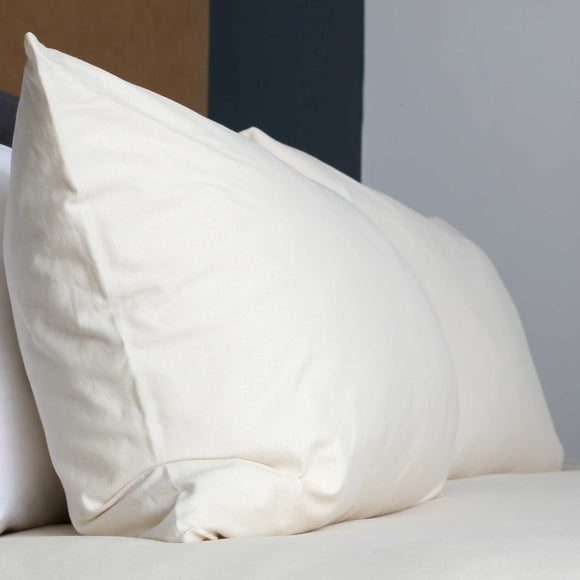 100% Cotton T-Shirt Fabric Pillow Case Set in the colour Scandinavian White. Available at SR Amenities Hotel and Spa Supplies at www.sramenities.co.za