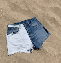 Load image into Gallery viewer, Bleach Dyed Denim Shorts