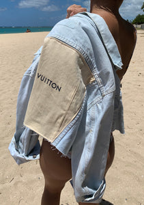 LV Cropped Denim Jacket