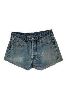 Faded Ash Denim Shorts