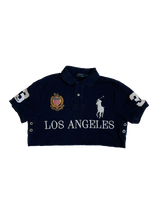 Load image into Gallery viewer, Navy Cropped Polo
