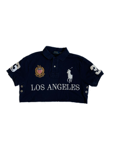 Navy Cropped Polo