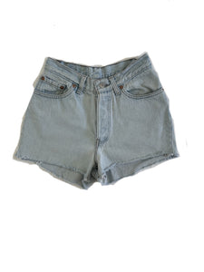 Lightwash Destroyed Denim Shorts