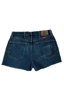 Dark Fade Denim Shorts