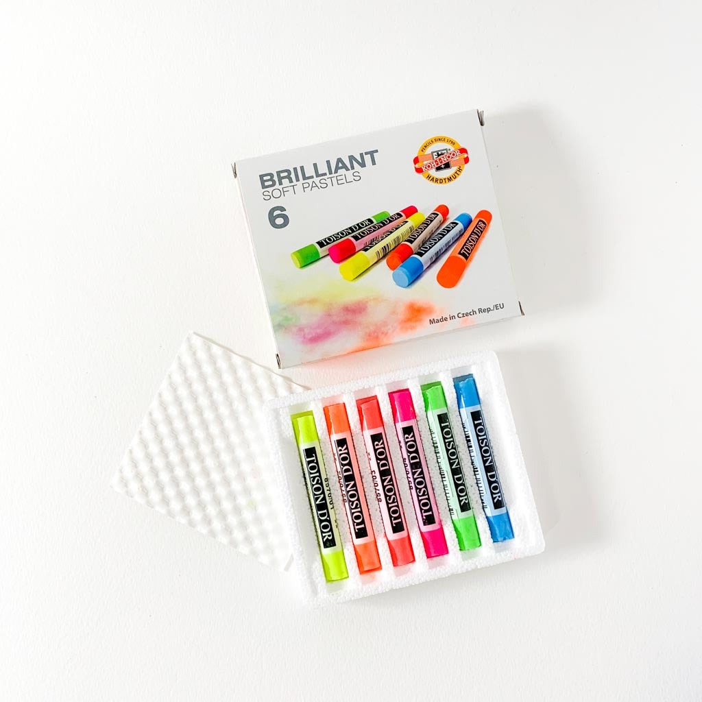KOH BRILLIANT SOFTY PASTELS 6KPL, FLUORESCENT