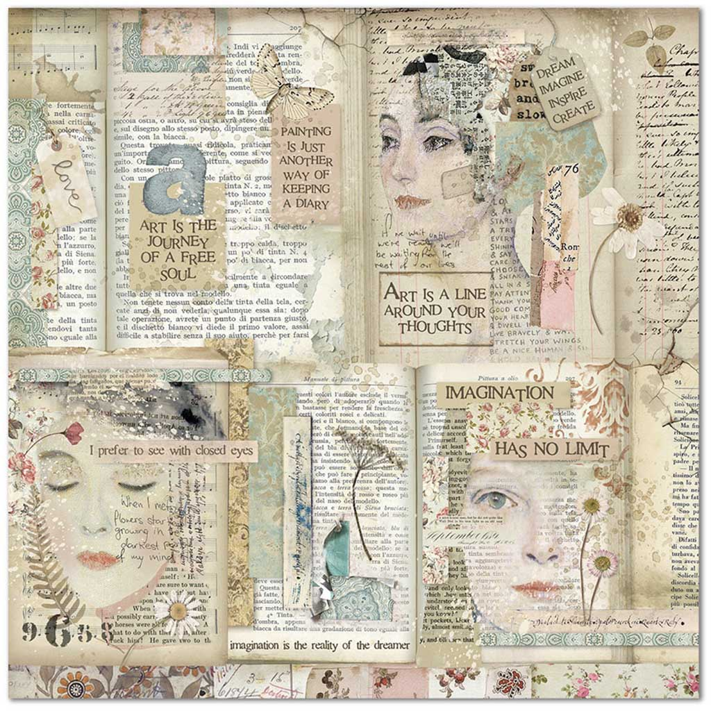 SCRAPBOOK -PAPERI 30X30CM, IMAGINATION