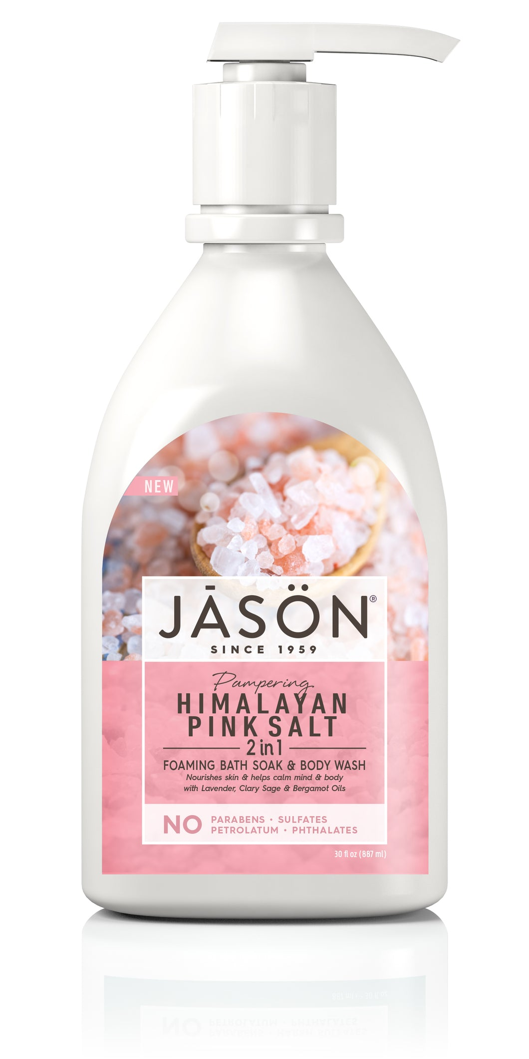 Pampering  Himalayan Pink Salt 2-in-1 Foaming Bath Soak & Body Wash