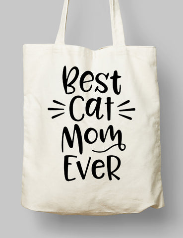 Kumaş Çanta - Best Cat Mom Ever