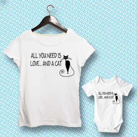 T-shirt ve Bebek Body - All You Need is Love