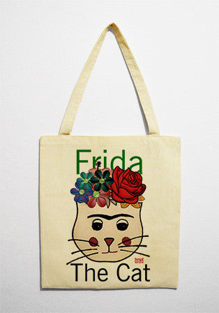 Kumaş Çanta - Frida The Cat