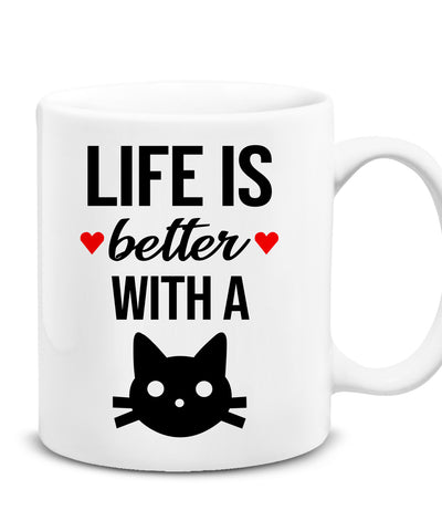 Life is Better With a Cat- Kupa