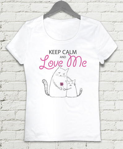 T-shirt - Keep Calm and Love Me