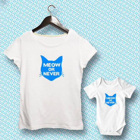 T-shirt ve Bebek Body - Meow or Never