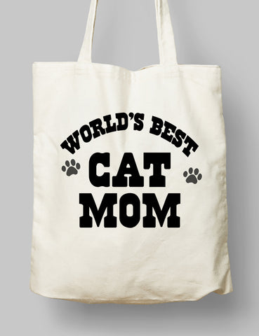 Kumaş Çanta - World's Best Cat Mom
