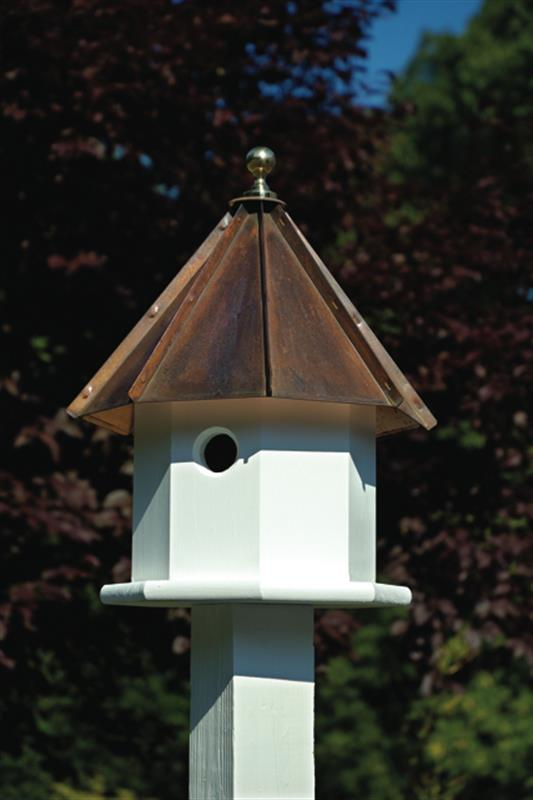 Oct - Avian - Brown Patina Roof - Birdhouse.