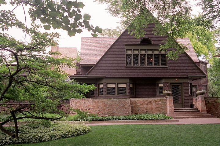 Note Card - Photo Frank Lloyd Wright Oak Park Home