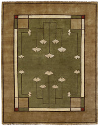 Ginkgo - Sage,  Wool Area Rugs.