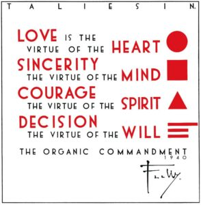 Note Cards - Frank Lloyd Wright's Organic Commandments Set/12