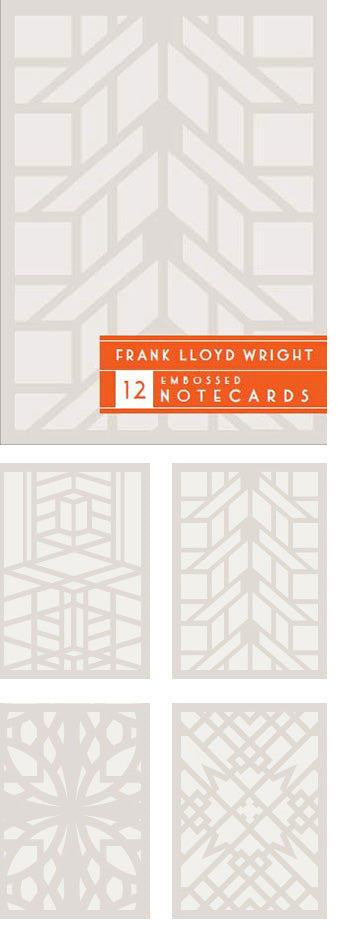 Notes-Frank Lloyd Wright Embossed Set/12