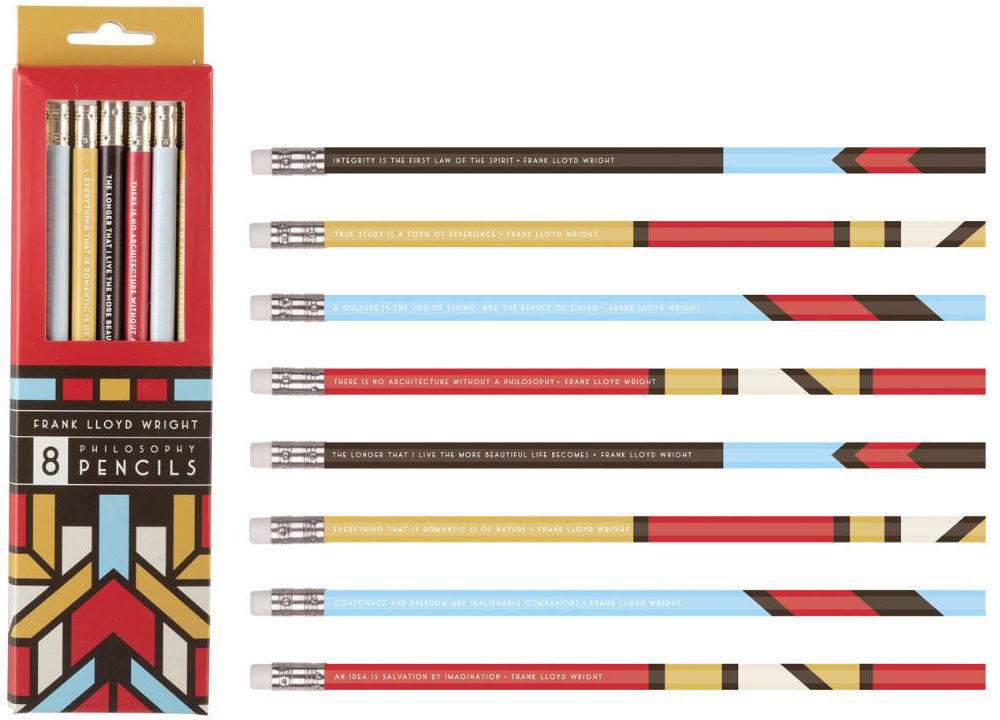 Frank Lloyd Wright Quotes Pencil Set