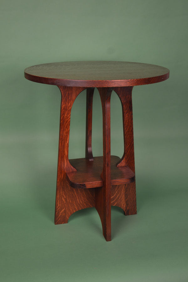 "Mission Arts and Crafts Tabourette Table 23"" Tall."