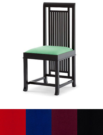 Coonley 2 Chair-Cherry/Black, Leather Seat