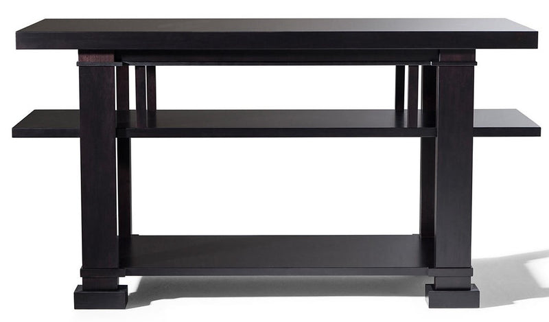 Boynton Hall Table-Cherrywood Stained Black