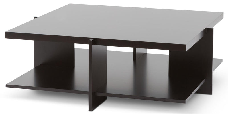 Lewis Coffee Table-Cherrywood / Black, 45.3 sq.
