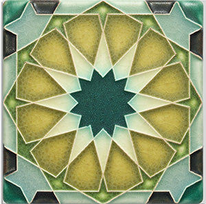 "Periwinkle Alhambra Tile - 4"" x 4"""