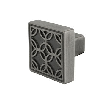 Luxfer Drawer Knob, Pewter