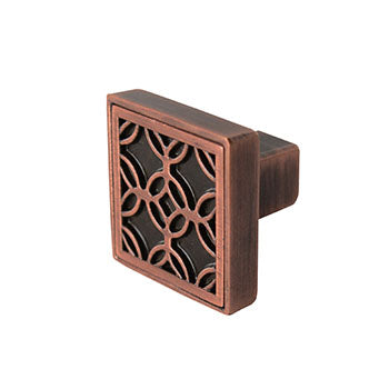 Luxfer Drawer Knob, Copper